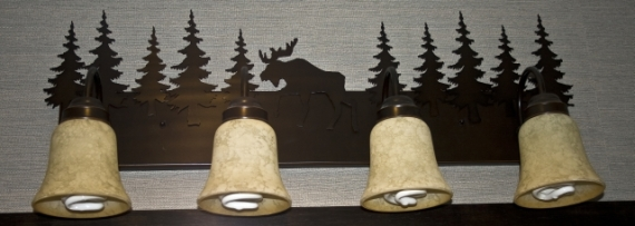 Jackson Lake Lodge Guest Bathroom Lighting Fixtures