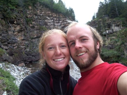 Meredith and Webb at Waterton National Park in Canada