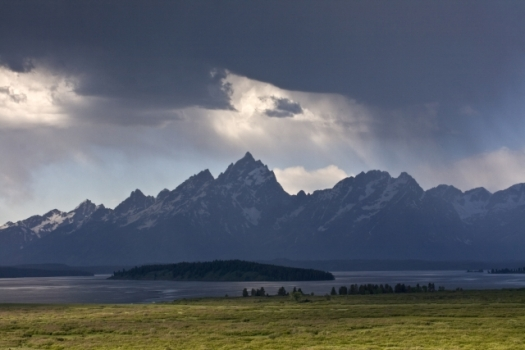 Thunderstorm Over the Tetons