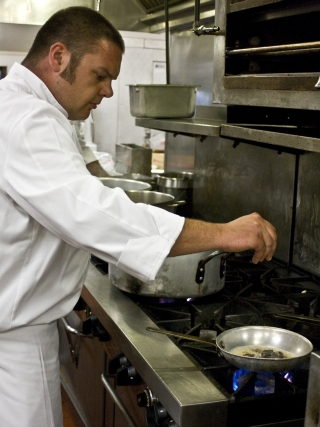 Jenny Lake Lodge Chef Josh Bayer in the Kitchen