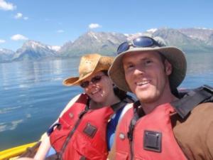 Melissa & Sy Kayaking Jackson Lake